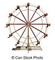 Drawn ferris wheel vintage Of and a wheel ferris