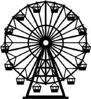 Drawn ferris wheel simple #4