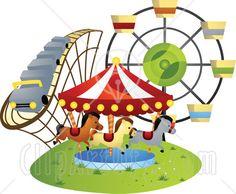 Ferris Wheel clipart fun park And Stock silhouette park arts