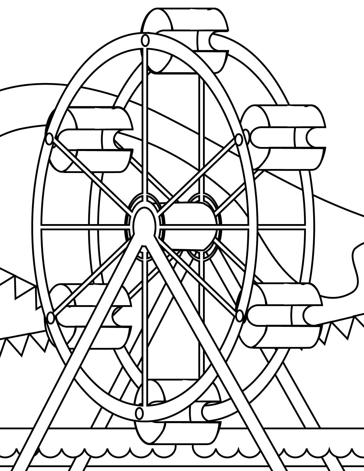 Drawn ferris wheel simple #5