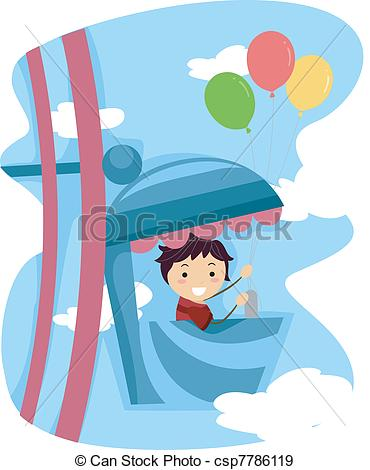 Ferris Wheel clipart kid A Kid Ferris Kid Illustration