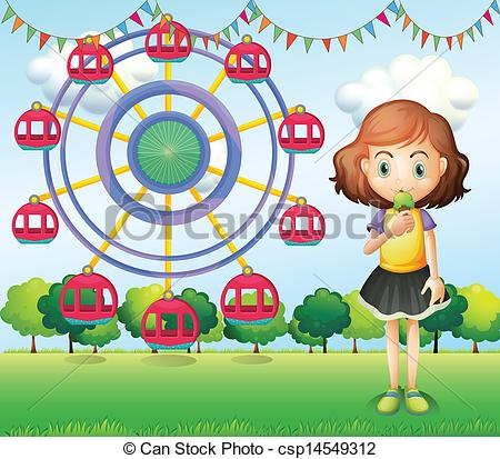 Ferris Wheel clipart kid A Art A the wheel