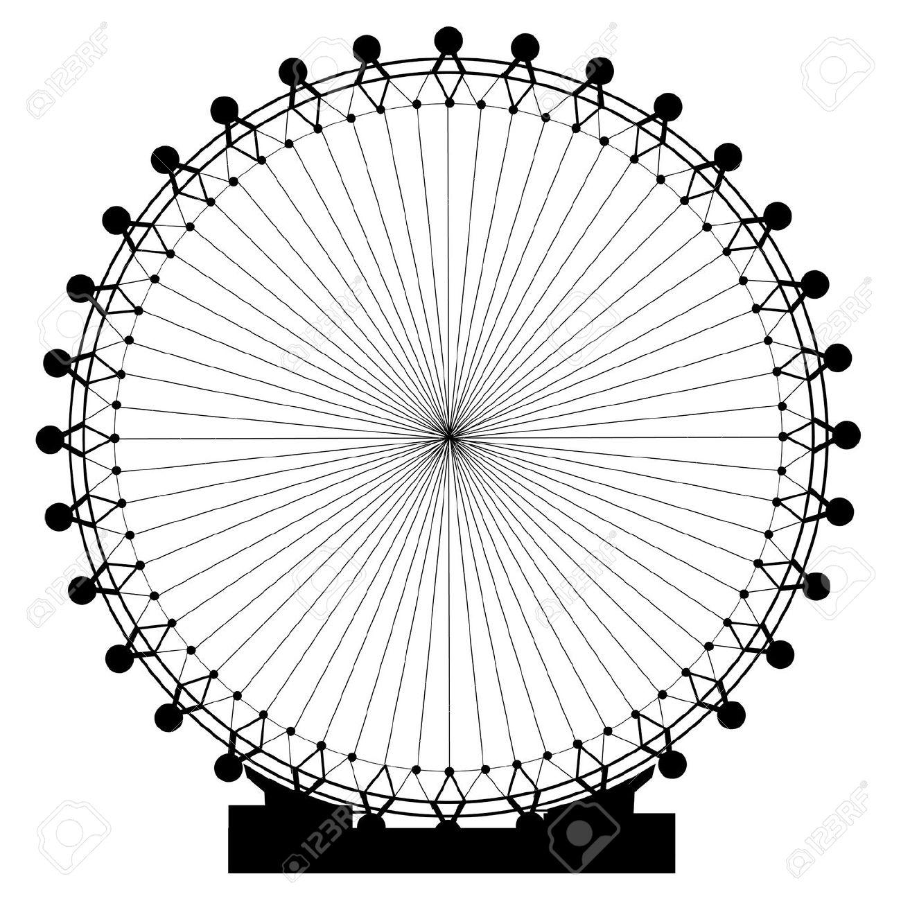London Eye clipart London Eye Drawing #10