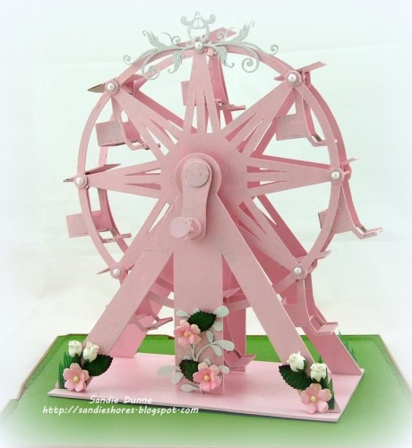 Ferris Wheel clipart made recycled material – this Cuts knipvellen Paper