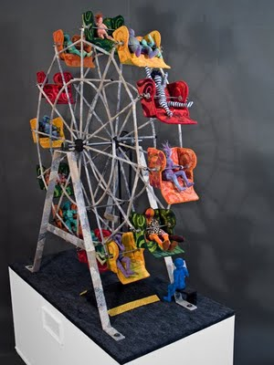 Ferris Wheel clipart made recycled material The use to was out