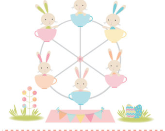 Ferris Wheel clipart mini Bunny Ferris wheel clipart printable