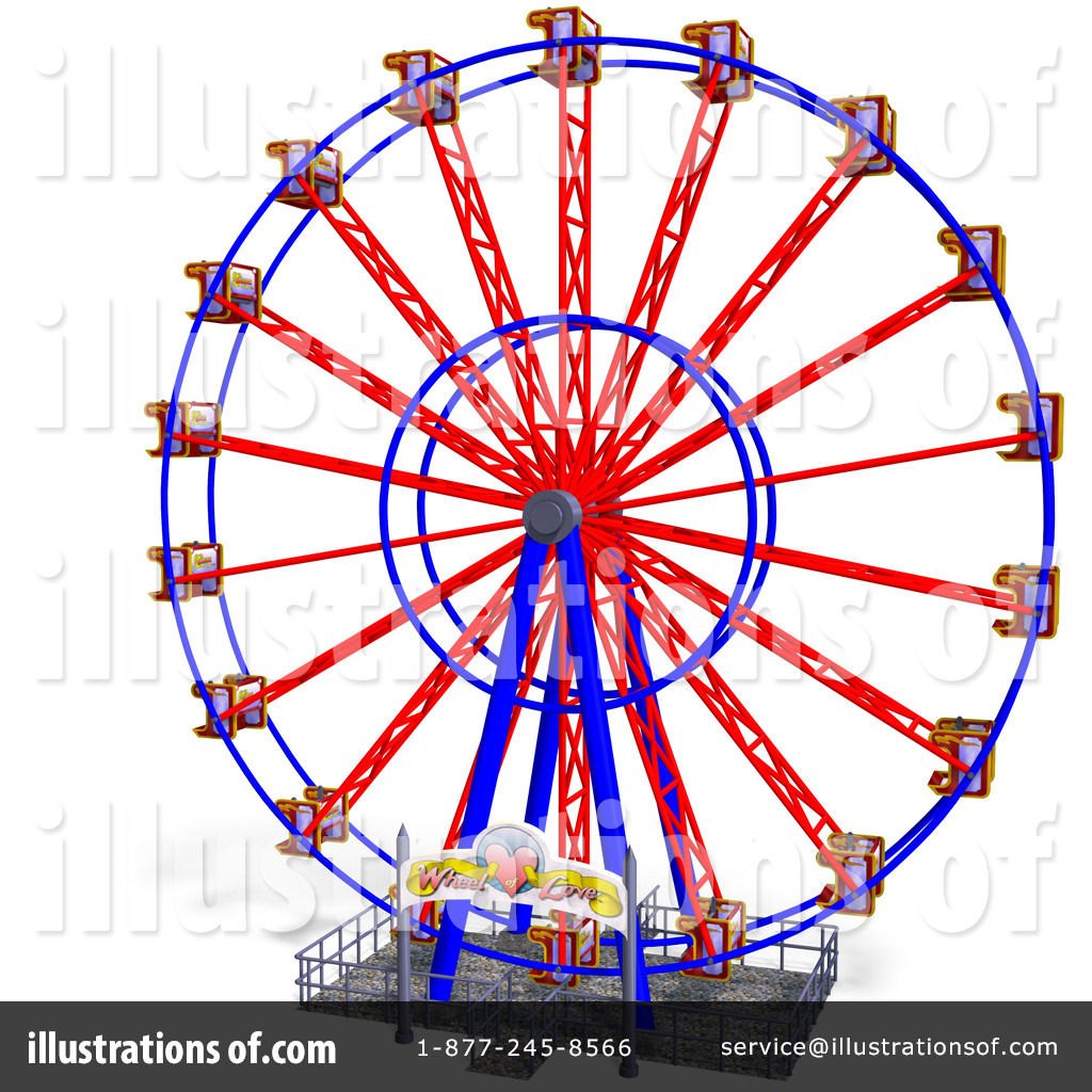 Ferris Wheel clipart red Free (RF) Ralf61 Illustration by