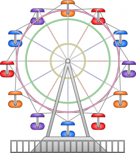 Ferris Wheel clipart red #4