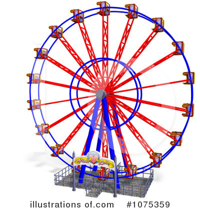 Ferris Wheel clipart red #5