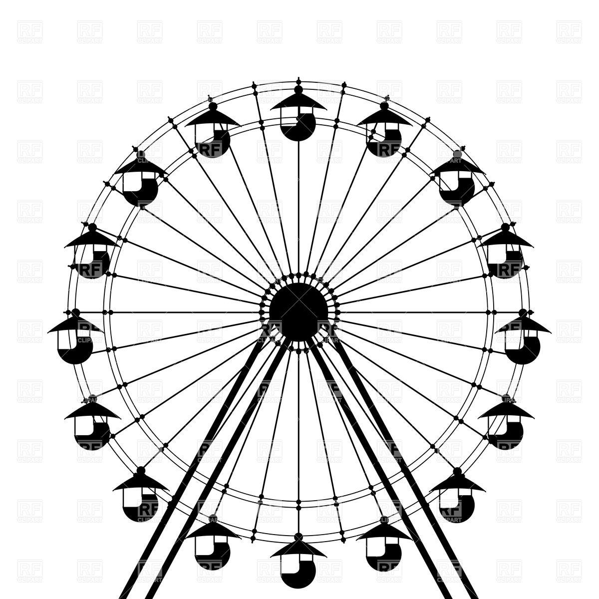 Carousel clipart giant wheel Free Ferris Wheel Silhouette Pictures