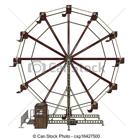 Drawn ferris wheel simple #6