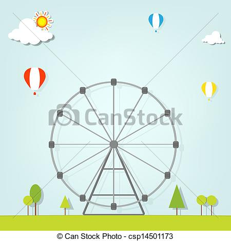 Drawn ferris wheel simple #2