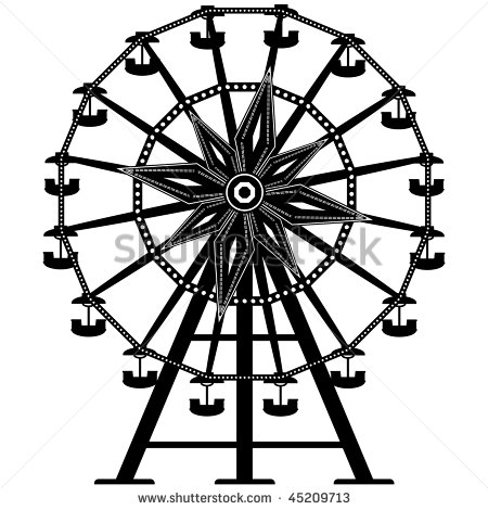 Drawn ferris wheel amusement park rides Detailed of from park wheel