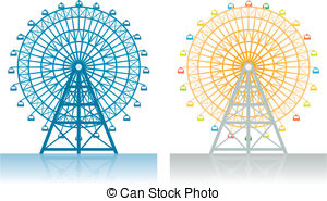Ferris Wheel clipart vintage Free wheel and Vector wheel