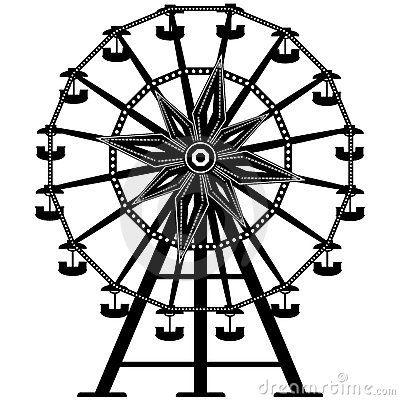 Ferris Wheel clipart vintage carnival Wheel ART CARNIVAL Pinterest Google