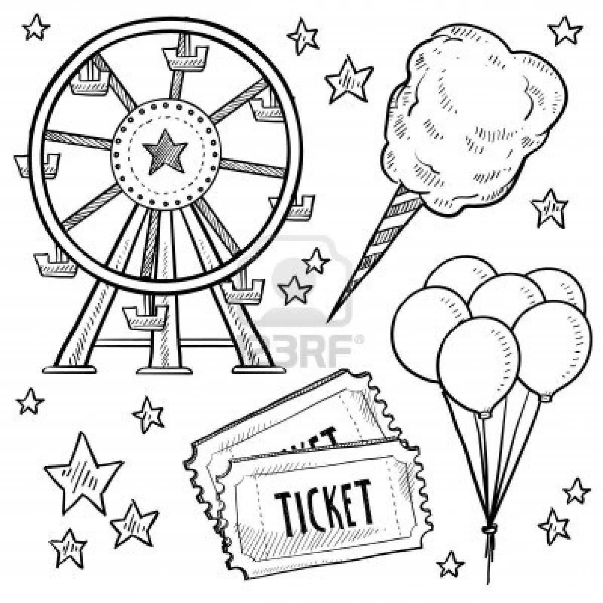 Ferris Wheel clipart vintage carnival Art also fun clip work