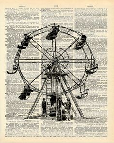 Ferris Wheel clipart vintage carnival Page rescued Ferris a
