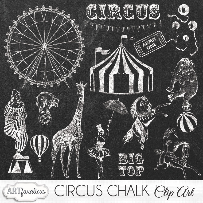 Tent clipart vintage carnival tent Circus Ferris drawn Chalk wheel