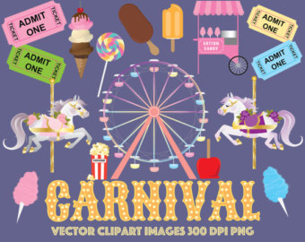 Carousel clipart ticket Clipart Carnival corn ferris wheel