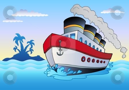 Ferry clipart boat trip Vector in Steamship sailing Steamship