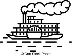 Ferry clipart steamboat Art Flat 599 Illustrations Steamboat