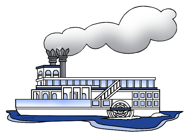 Boat clipart steam boat Steamboat Free Art Cliparts Transportation