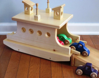 Ferry clipart toy boat Boat/child's Etsy Ferry Wooden gift