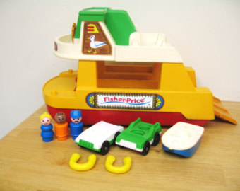 Ferry clipart toy boat RAMP Etsy Fisher Ferry Vintage