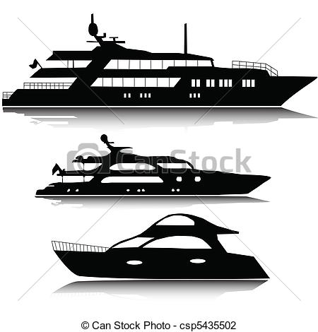 Yacht clipart ferry boat  silhouettes yachts silhouettes csp5435502