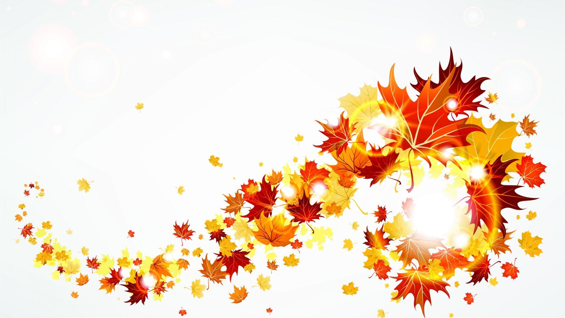 Wallpaper clipart autumn Images border leaves 2 autumn