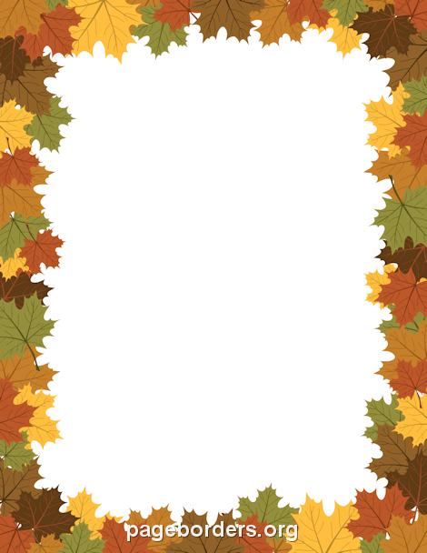 Festival clipart autumn leaf Art Borders: Fall Free Free