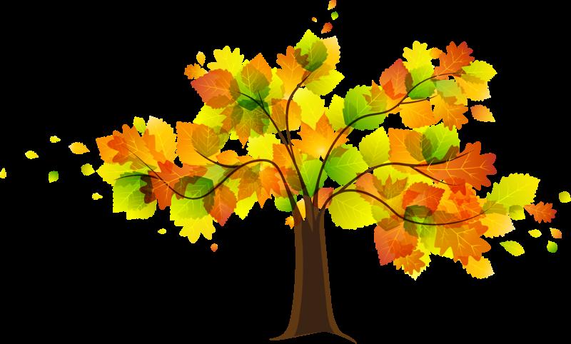 Tree clipart autumn leaves #15