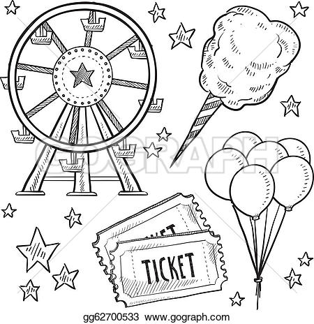 Festival clipart black and white Fair Summer Free on Clip