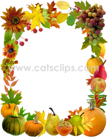 Harvest clipart border Harvest of and bountiful Perfect