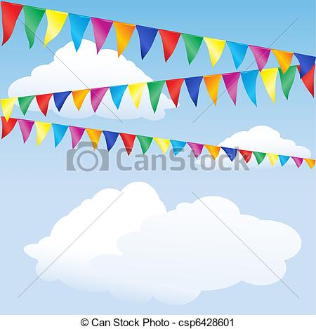Carneval clipart banderitas Against Illustrations bunting Space 711