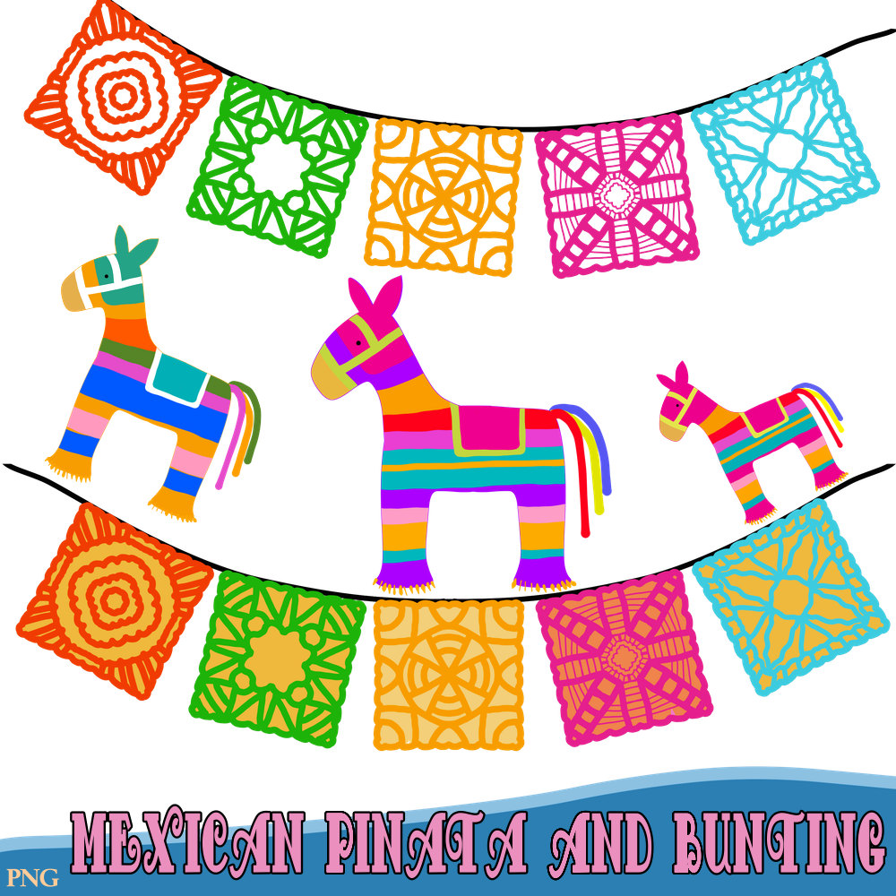 Pendent clipart festival banner Pinatas This a Fiesta Bunting