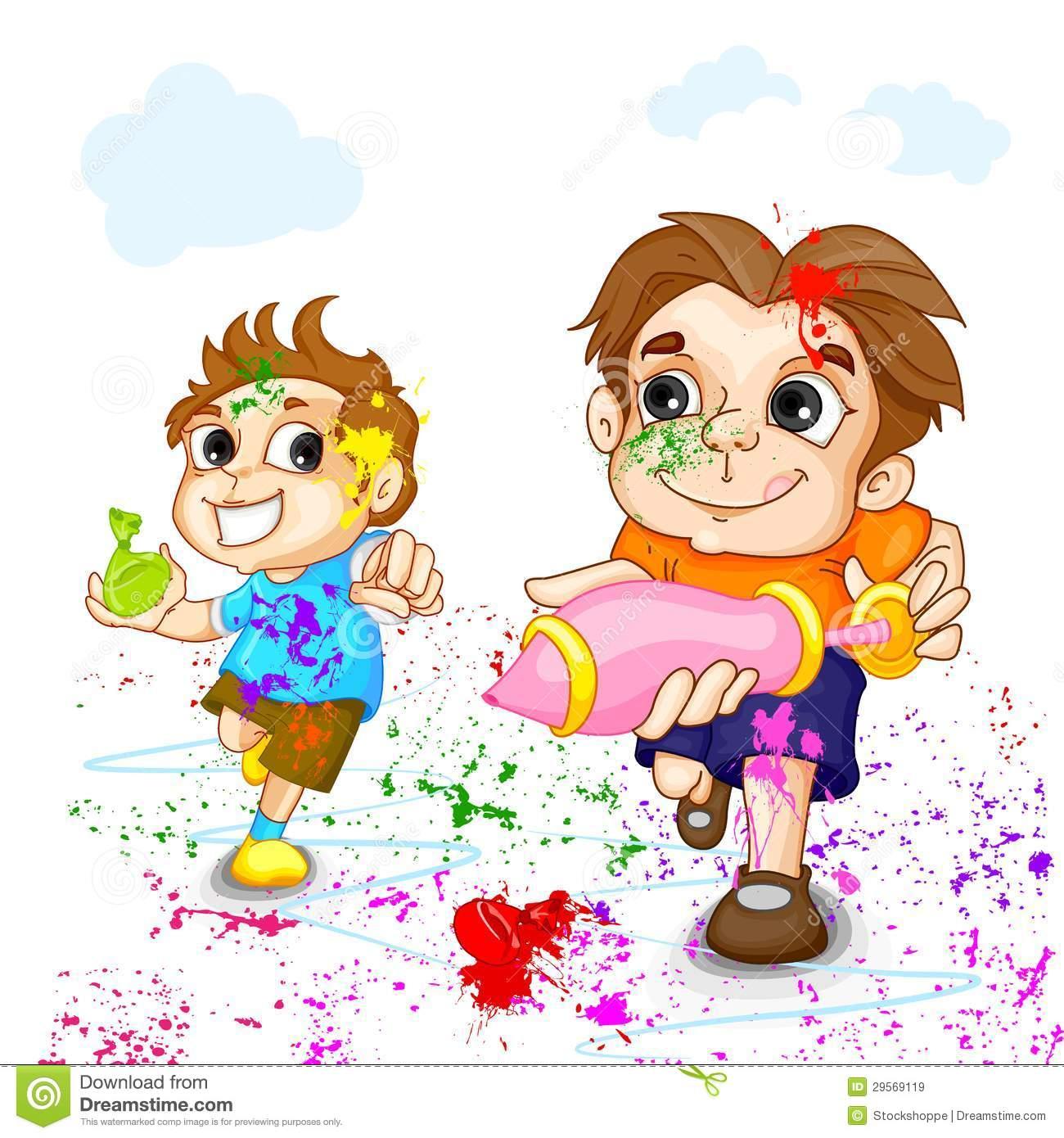 Festival clipart cartoon Festival Free Kids Holi Of