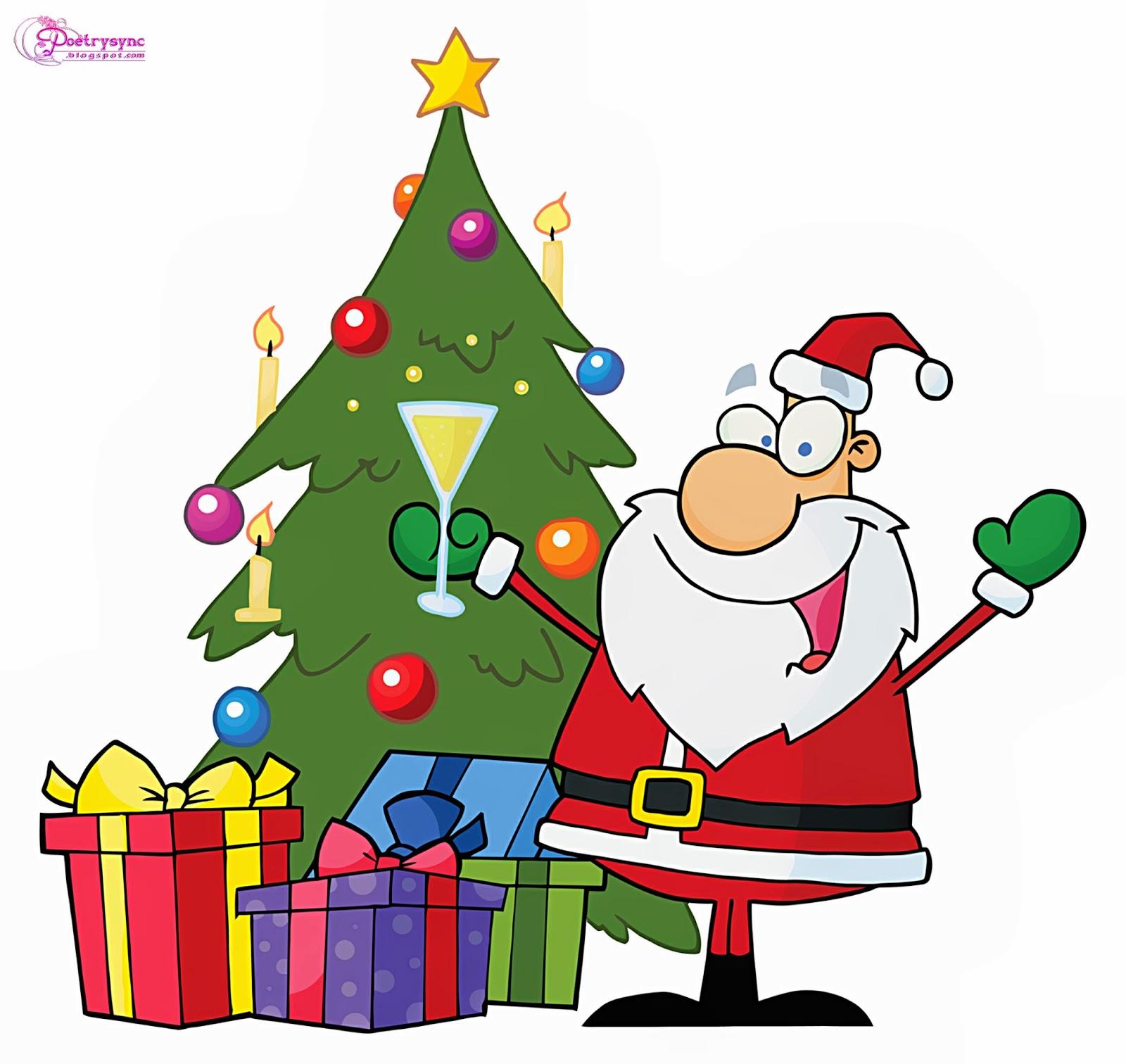 Festival clipart cartoon Santa and santa Claus Cliparts