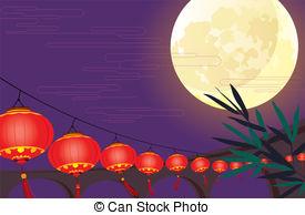 China clipart lantern festival Full des vector Art Lantern