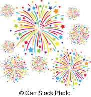 Festival clipart colorful firework  Colorful white Clipart on