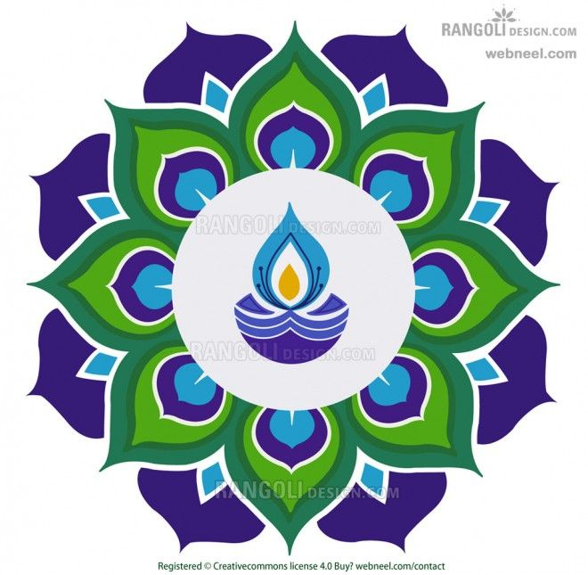 Festival clipart diwali deepak Diwali Rangoli Easy and best