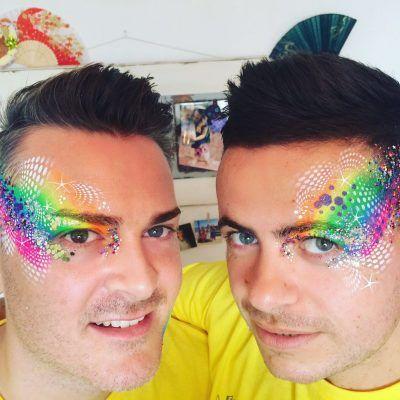 Festival clipart face painting On lgbt neon face ideas