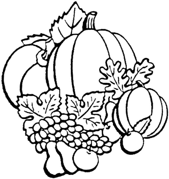 Harvest clipart black and white And black white and leaves