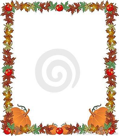 Harvest clipart colorful frame Leaves leaves Clip art pumpkins