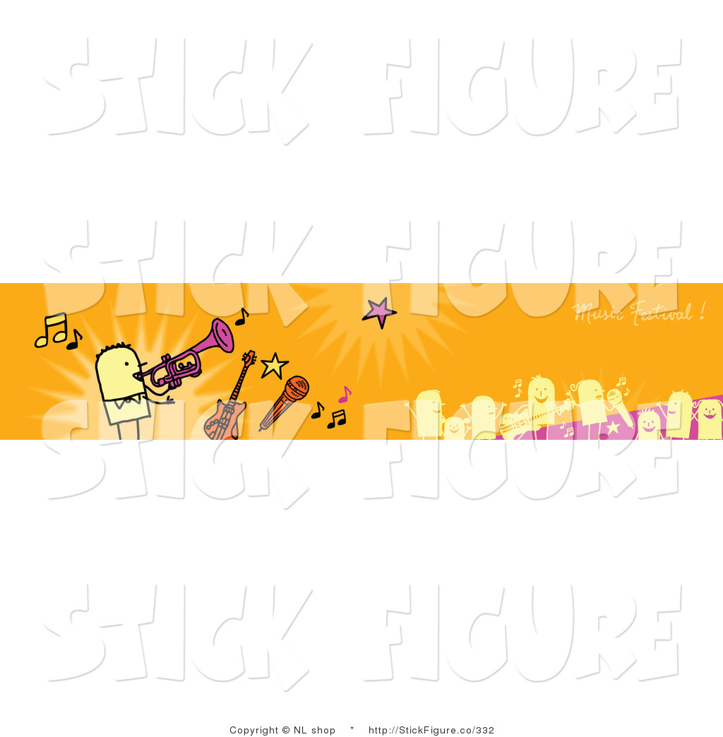 Festival clipart festival banner Banner Instruments with a Music