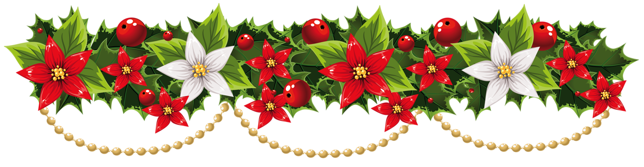 Red Flower clipart swag Party clipart holiday preview Festive