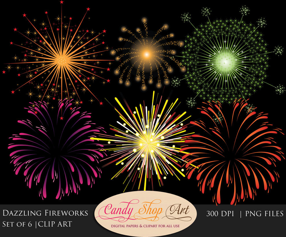 Festival clipart fireworks display Fireworks Etsy Dazzling Clipart Clipart