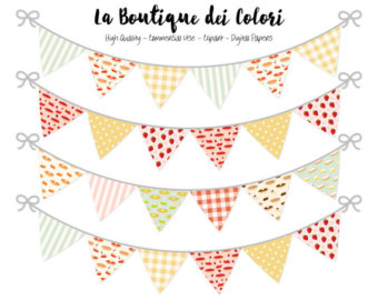 Baking clipart banner Flag clipart collection Party Bunting