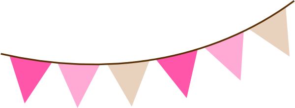 Carnival clipart pennant banner clip art Banner Pink Flag cliparts flag