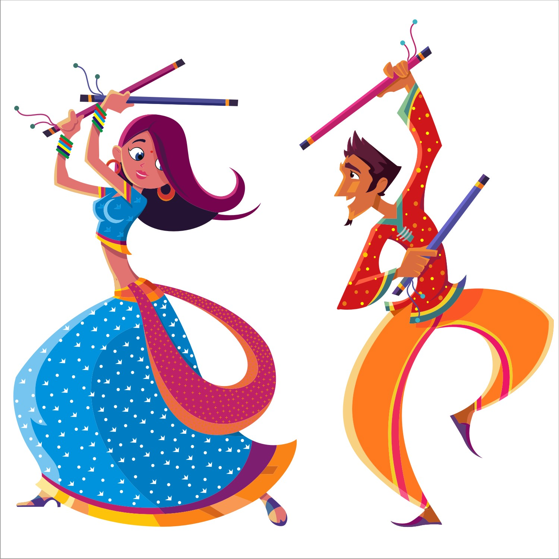Indian clipart group dance  Best Navratri Pinterest 25+